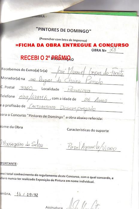 1992 FICHA DE INSCRIÇÃO
