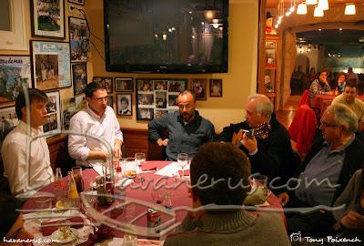 Càstor Pérez a la inauguració del nou local de la bella Lola