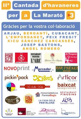 Agrïments a la Cantada d'Havaneres per a La Marató
