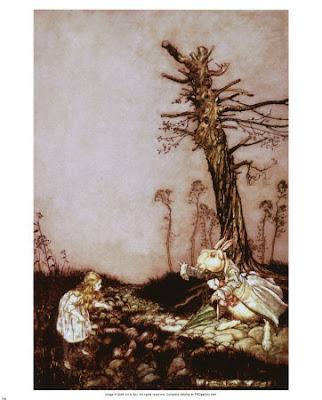 Alice White rabbit Arthur Rackham
