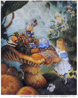 Alice in Wonderland, chenille, Scott Gustafson