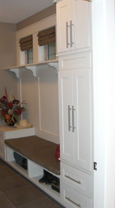 Mud Room Benches and Cabinets