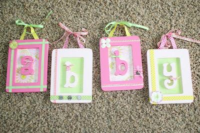 Handmade Name Frames | Nursery Decor