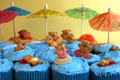 Bikini Bears Cupcakes | Birthday Treats