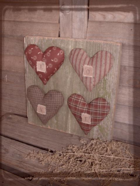 Daughternature Primitive Folk Art Love Valentine Hearts Rabbit W Spring Sampler Wool Easter