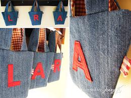 Monogrammed Mini Bucket Bags