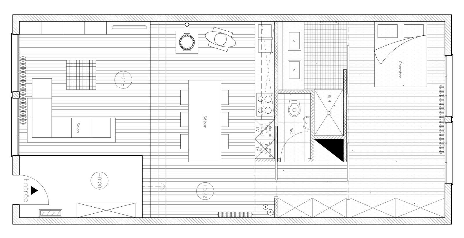 #0E0E0E Nicolas Lozano Architecte D'intérieur Pau (64  4971 plan piece a vivre 30m2 1600x821 px @ aertt.com