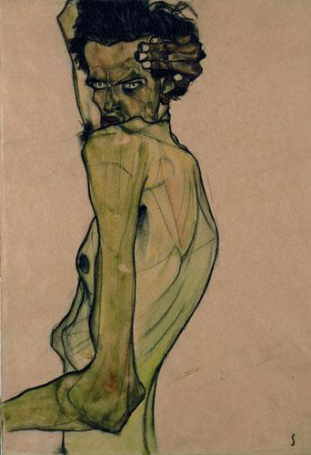 un uomo di Egon Schiele