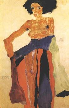 una donna di Schiele