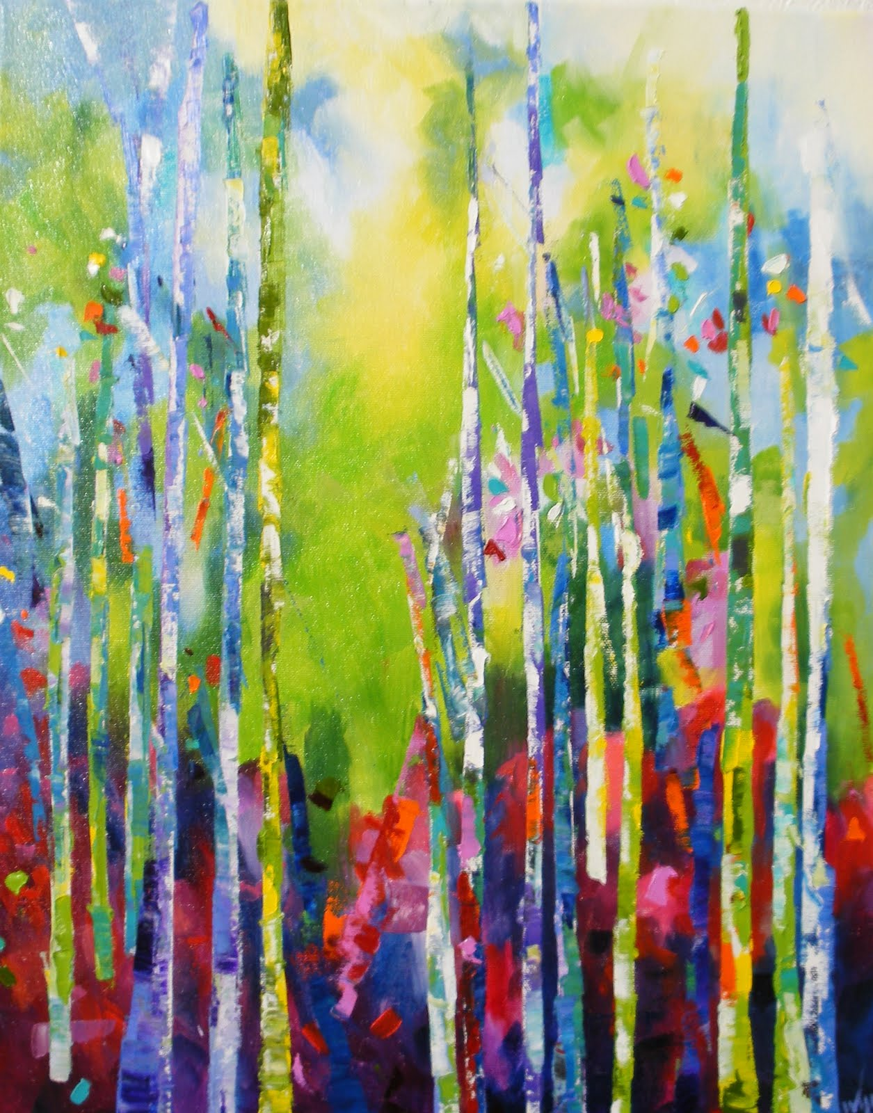 SOME TEXAS ARTISTS LIKE TO PAINT: Color My Trees by Kay Wyne