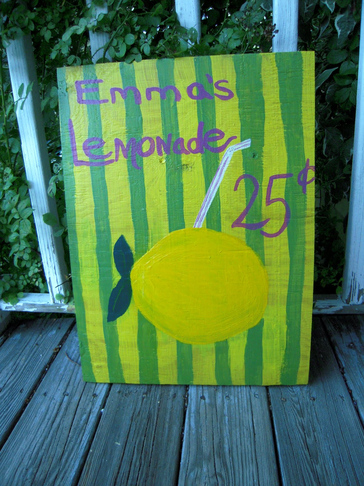 how to make a lemonade stand sign
