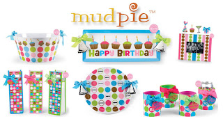 Mud Pie has a new line of birthday-themed entertaining and gift items.