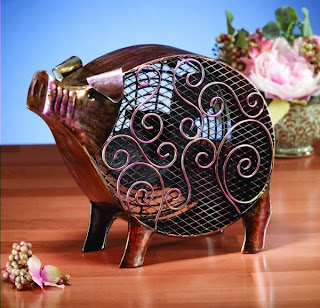 Deco Breeze has added to its Figurine Fan collection of tabletop fans. The Pig is a new design that will be shown at the Atlanta gift show in July 2009. Click image to enlarge.