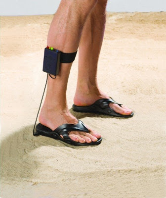 Hammacher Schlemmer's metal detecting sandals are a great gift idea for father's day.