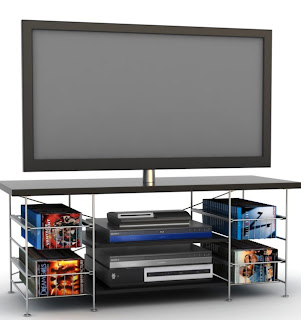 Atlantic Inc. has furniture for flat panel TVs. Tribeca model with drawers