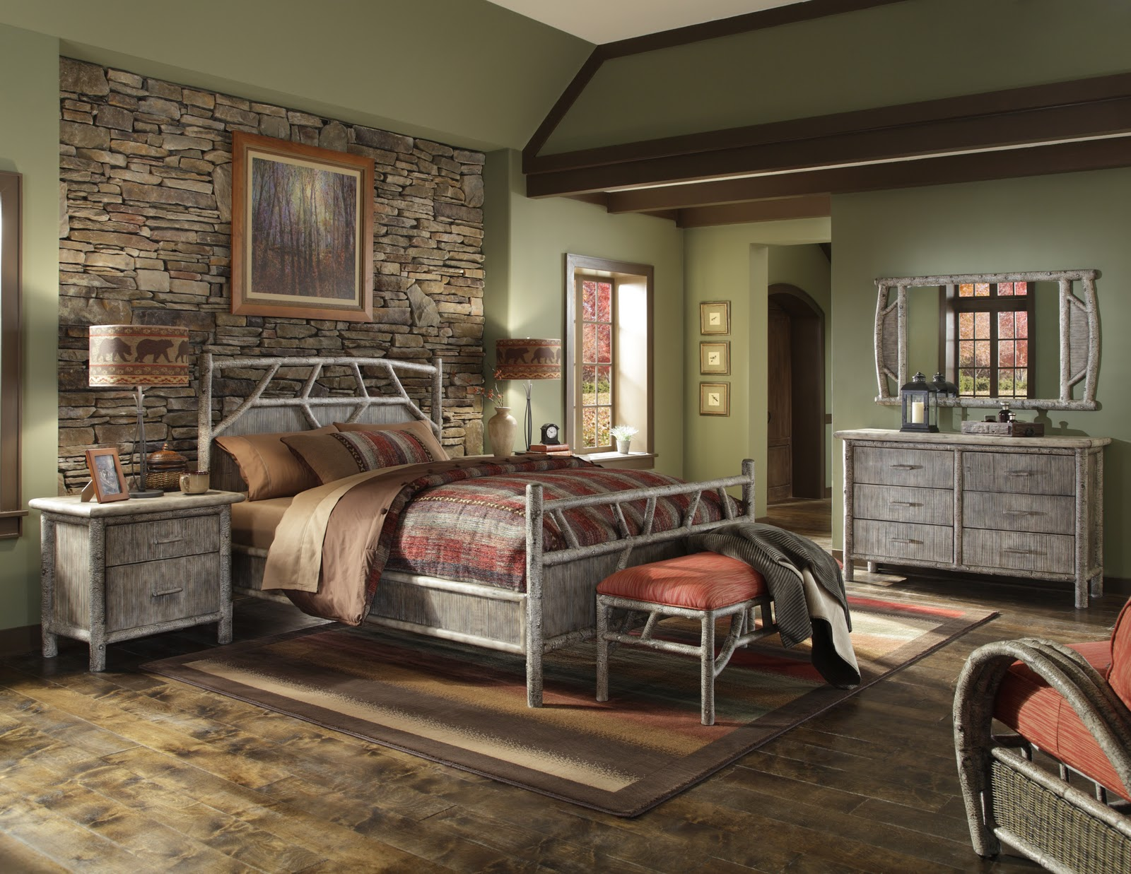 Cabin Theme Rooms http://giftandhometoday.blogspot.com/2011/01/5-new-bedding-ensembles.html