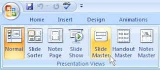 PowerPoint 2007 Slide master button