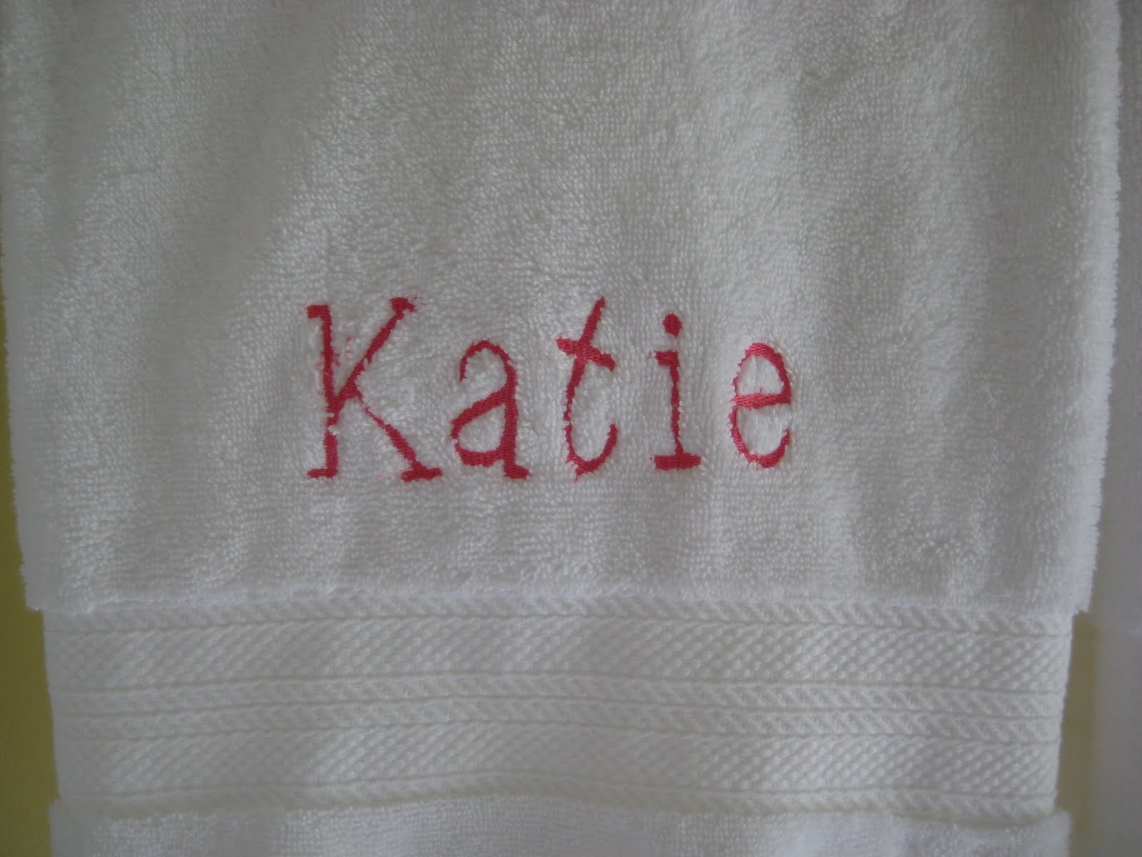 Sara Says Monogrammed Bath Towels