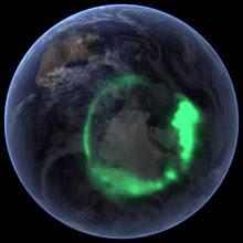 Aurora Boreal  vista pela NASA