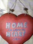 Wood n wire heart hanger