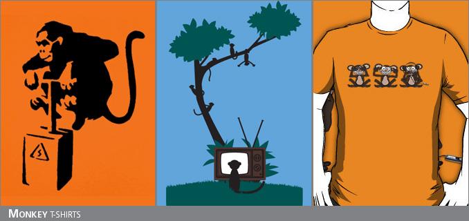 Monkey t-shirts