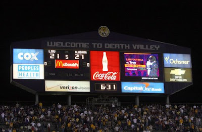 Tiger Stadium Taking Down South End Zone Scoreboard Page
