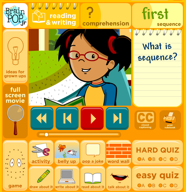 And teachers who like words brainpop jr s movie of the week sequence