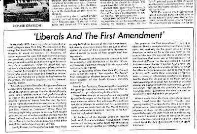 the importance of the first amendment in providing freedom of speech in america This is an essay about the freedom of speech and of the press in the constitution.