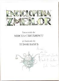 """Autograful lui Mircea Cartarescu pe cartea """"Enciclopeia zmeilor"""""""