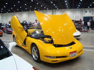 modification carchevrolet corvette with yellow color