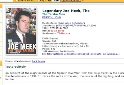 Legendary Joe Meek - an account of the major events of the Spanish Civil War