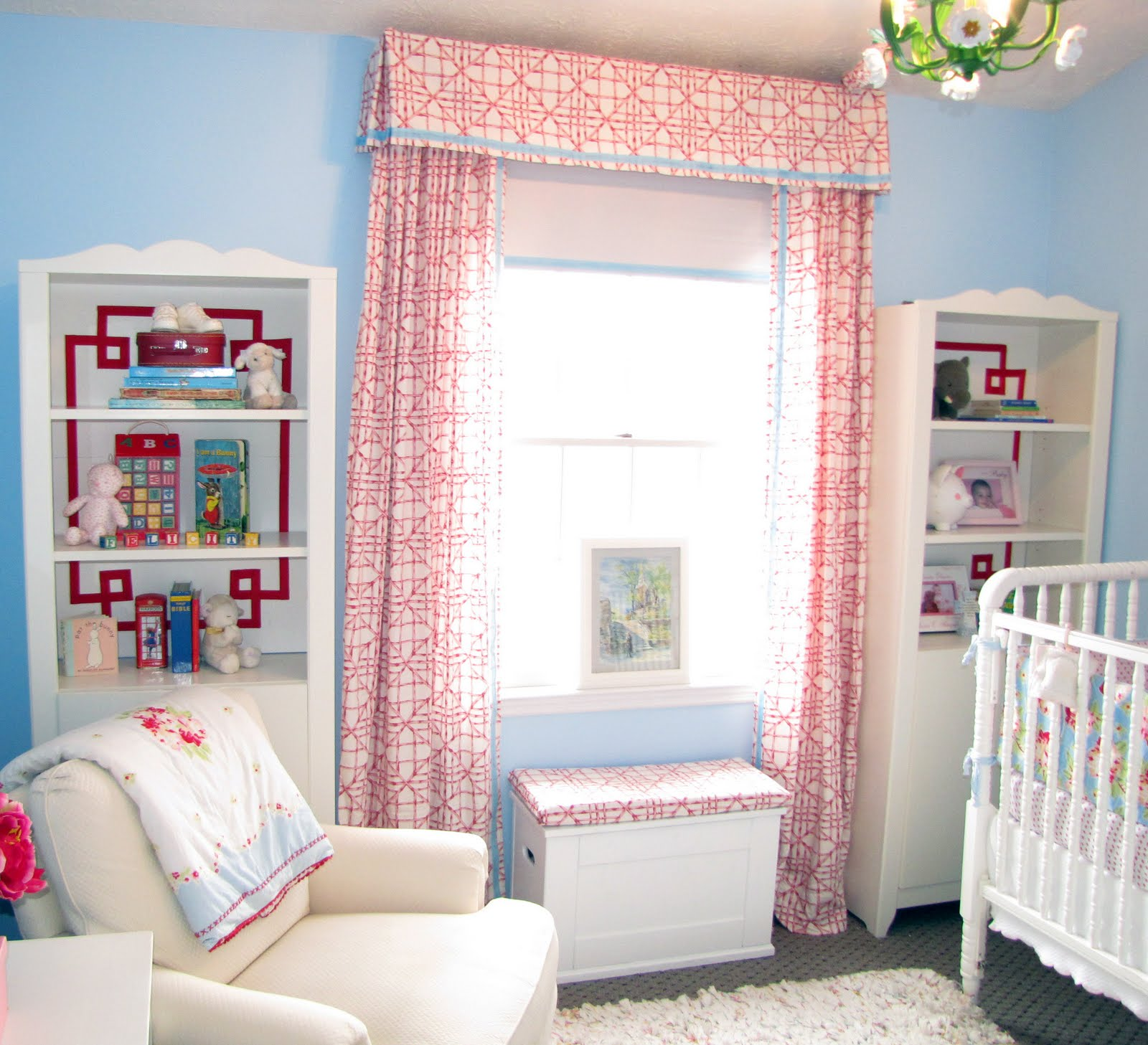 Curtains In The Nursery For Girls Bibbidi Bobbidi Beautiful DIY Drapes And Valance From Sheets