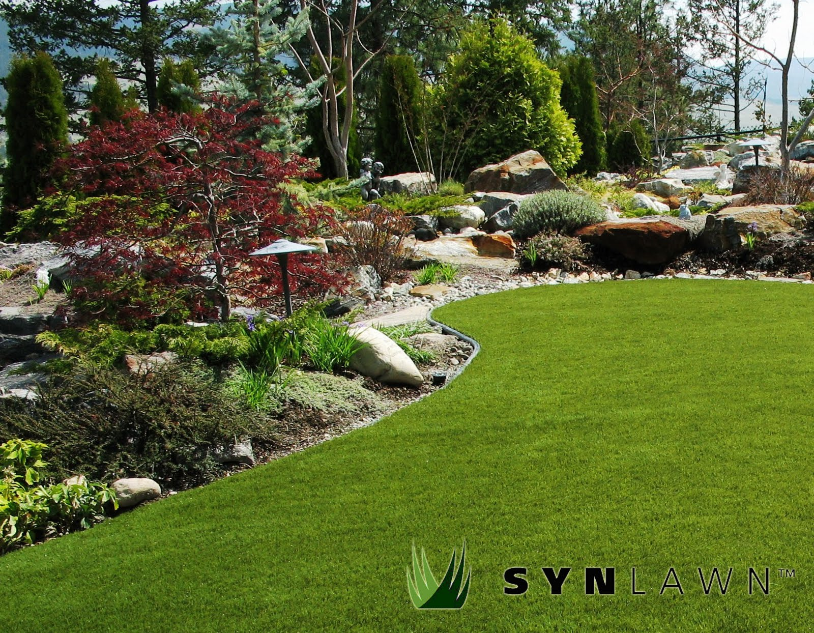 Synlawn okanagan save water with synlawn for Residential landscaping