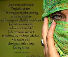 Nacemos con Amor ..Temor es lo que aprendemos