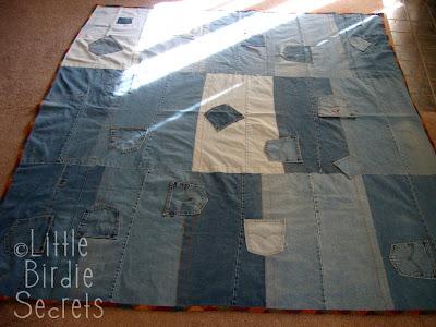 denim quilts patterns - Make a recycled jean denim quilt