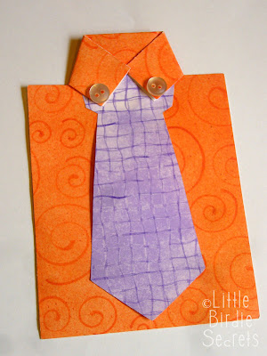 last minute father s day shirt and tie card little birdie secrets