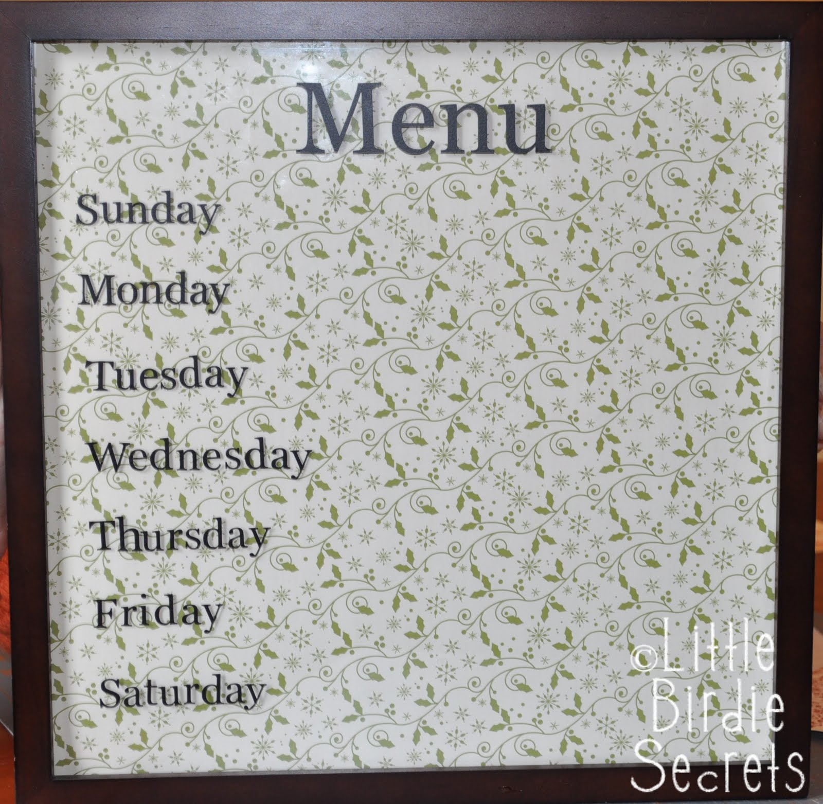 Holiday Weekly Menu Boards And How To Line Up Your Vinyl