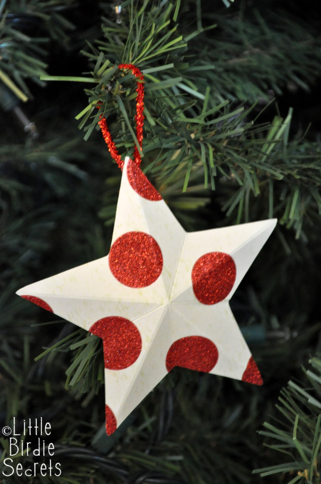 Last minute christmas decorations 3d paper star wreath for Decoration paper