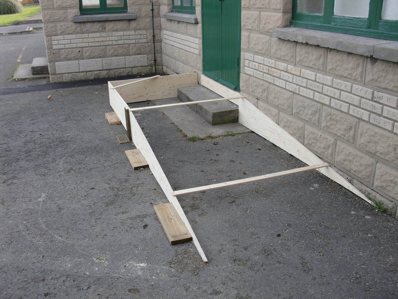 calley memorial hall chiseldon disabled ramp work starts today