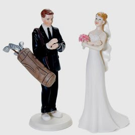 Unusual Wedding Cake Toppers Sports Edition: Golf