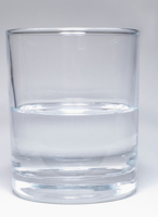 Glass of water half-full (or half-empty)?
