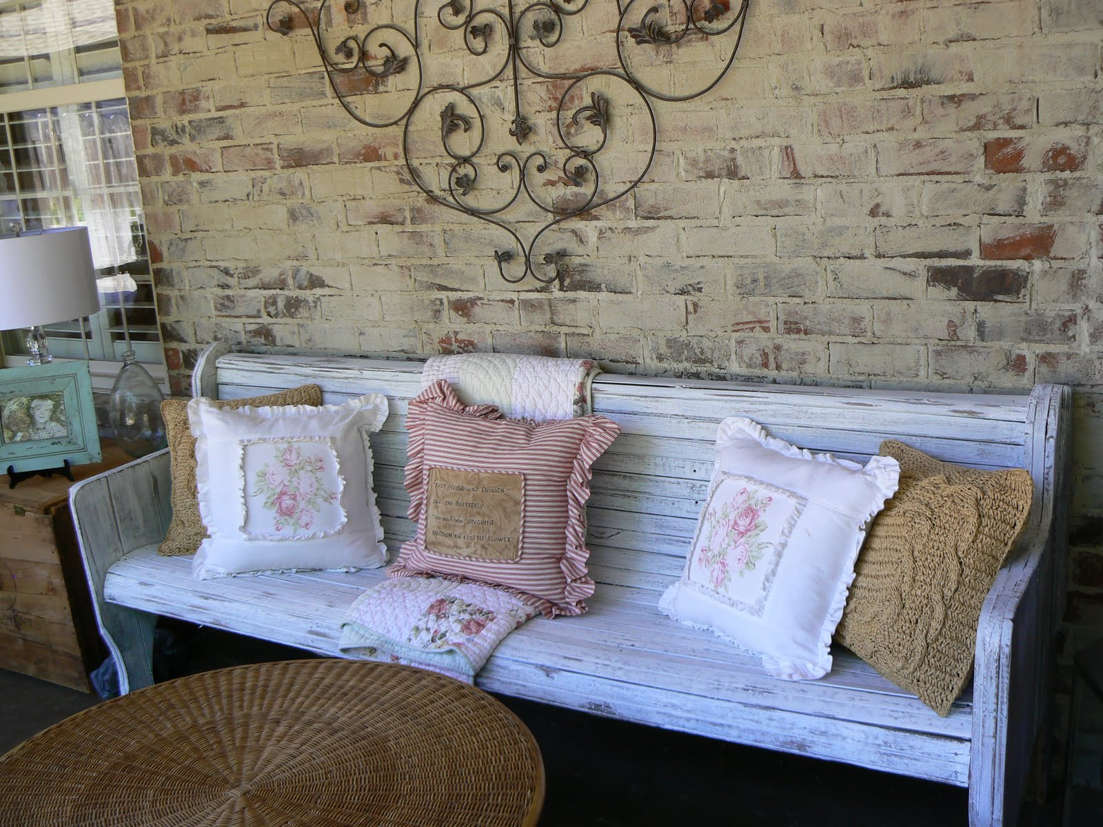 A well loved home creating a shabby chic porch for Shabby chic porch ideas