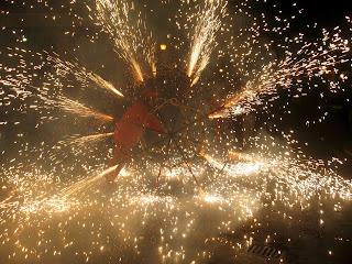 Sènia de foc al correfoc de Vinalesa