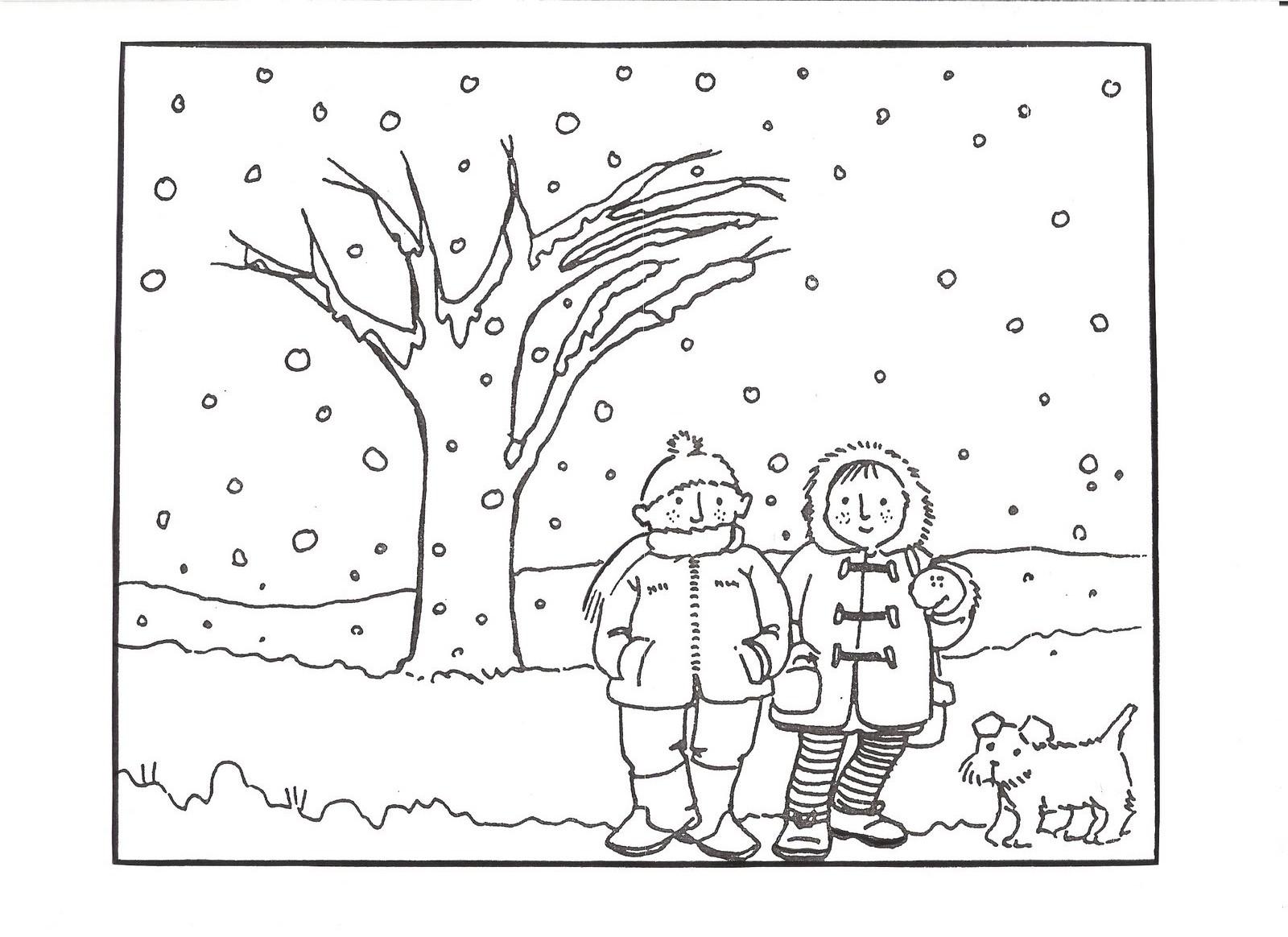 Fantástico Páginas Para Colorear De Invierno Para Preescolar ...