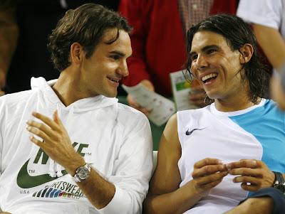 Roger Federer vs Rafael Nadal Happy Gallery Image