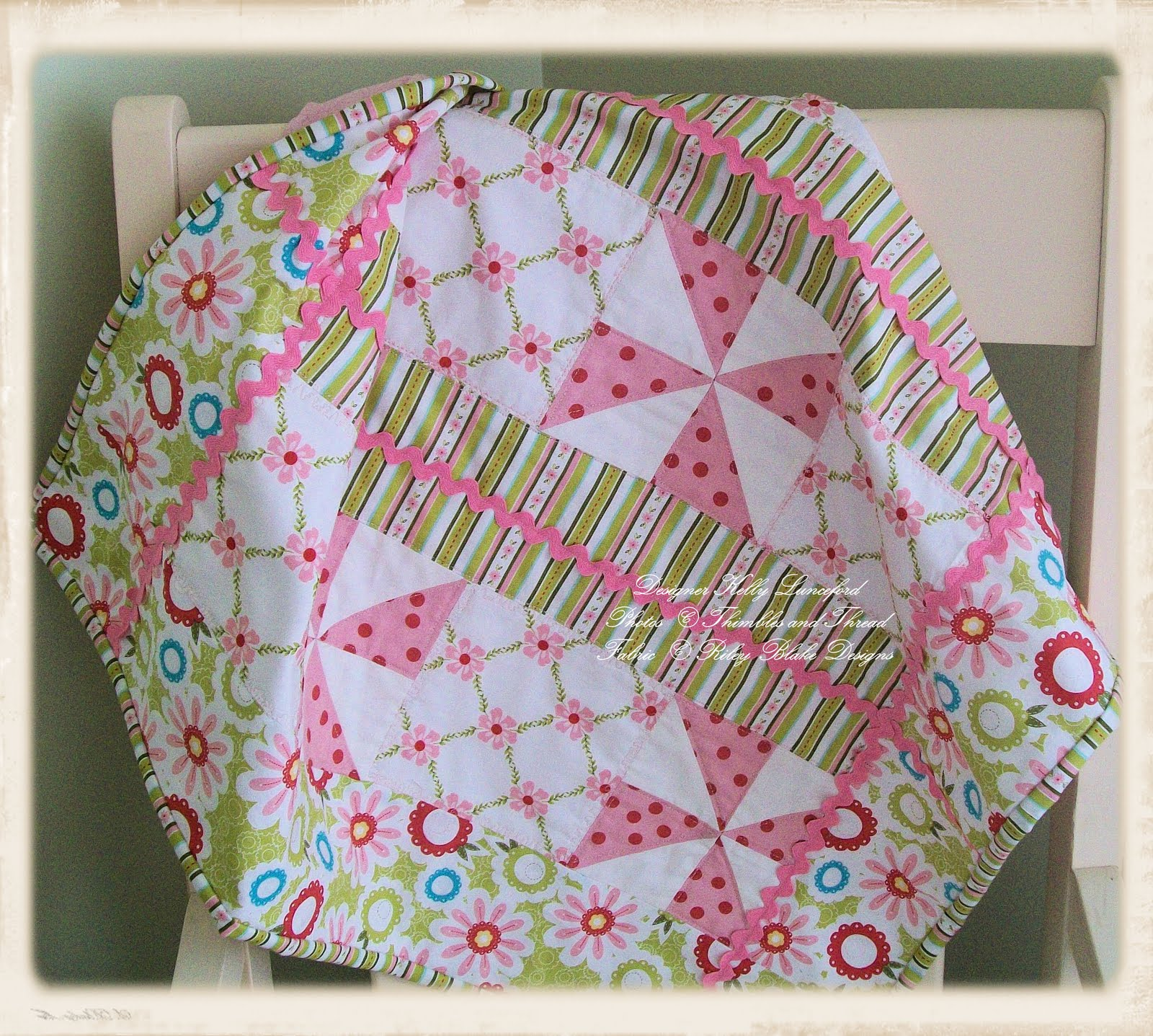 Quilting Thread Patterns : Sweet Divinity Baby Quilt