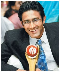 Indian Captain Anil Kumble