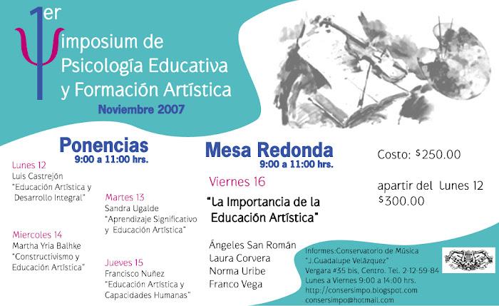 1er Simposium de Psicología Educativa y Formación Artística