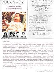 Buscamos a Clara Anahí Mariani