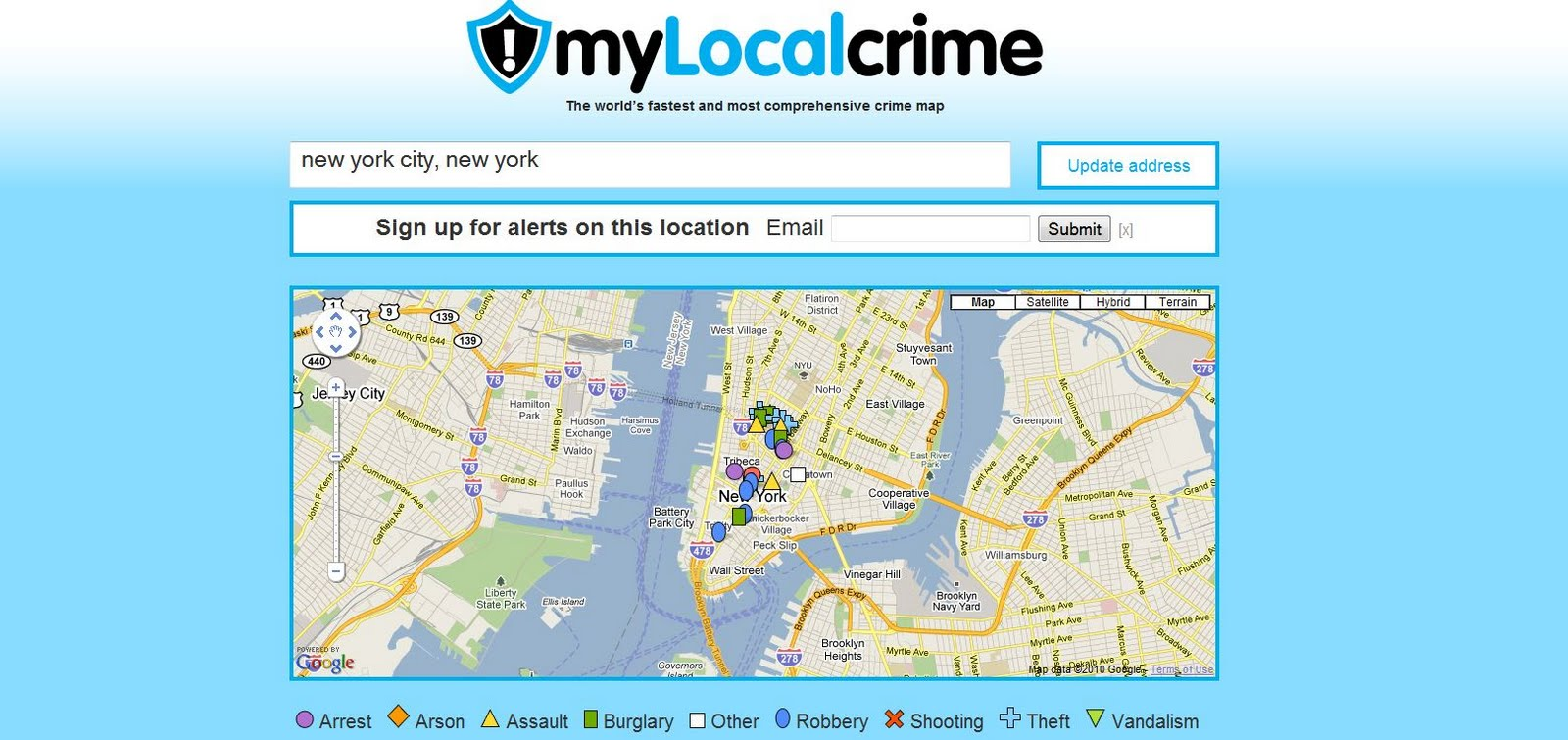 Crime Maps Around the World: New York City Crime Map on